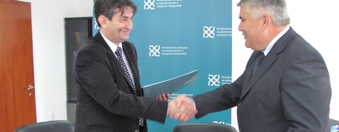 Potpisan sporazum sa Republičkom agencijom za razvoj malih i srednjih preduzeća